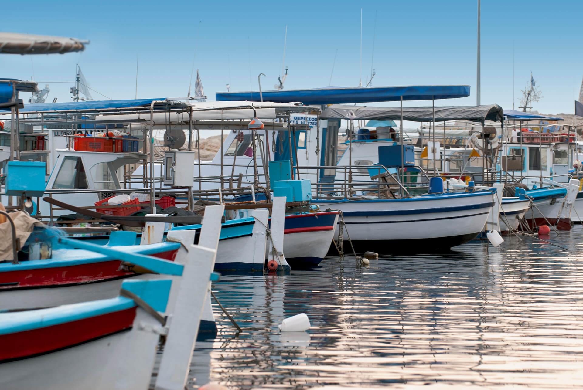 Fishing boat shelter, Larnaka, Cyprus